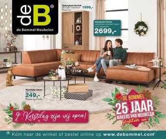 De Bommel Meubelen reclame folder (geldig t/m 26-12)