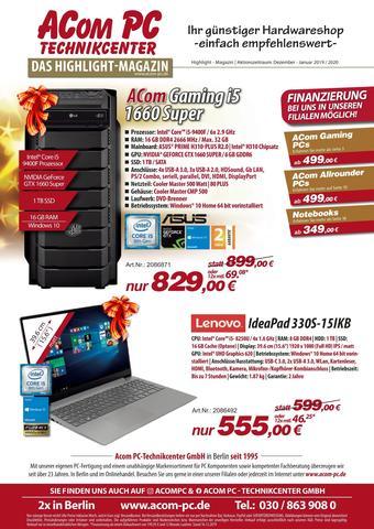 ACom PC Prospekt (bis einschl. 31-01)