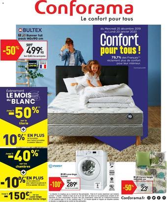 Conforama catalogue publicitaire (valable jusqu'au 20-01)