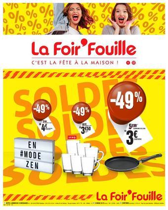 La Foir'Fouille reclame folder (geldig t/m 10-02)
