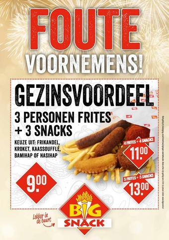Big Snack reclame folder (geldig t/m 31-01)