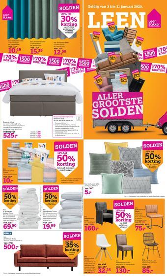 Leen Bakker reclame folder (geldig t/m 31-01)