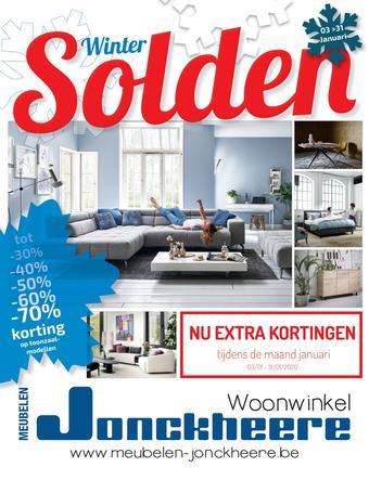 Meubelen Jonckheere reclame folder (geldig t/m 31-01)