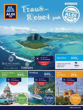 Aldi Süd Reisen Prospekt (bis einschl. 29-02)