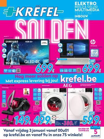 Krëfel Keukens reclame folder (geldig t/m 31-01)