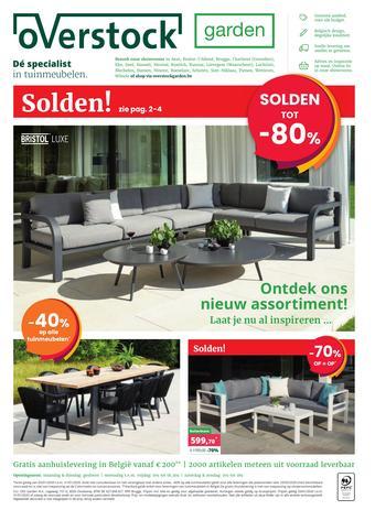 Overstock Garden reclame folder (geldig t/m 31-01)