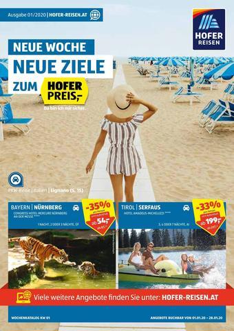 Hofer Reisen Werbeflugblatt (bis einschl. 28-01)