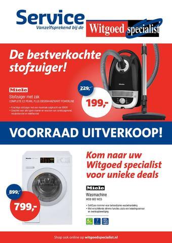 Witgoed specialist reclame folder (geldig t/m 26-01)