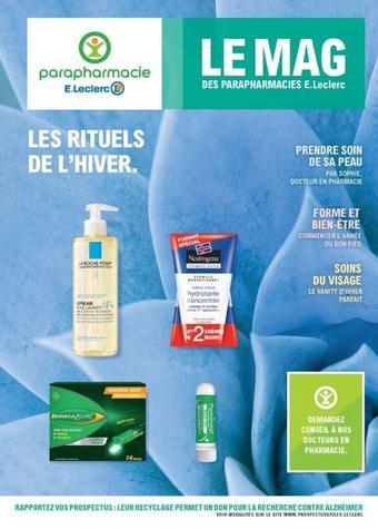 E.Leclerc Parapharmacie catalogue publicitaire (valable jusqu'au 01-02)