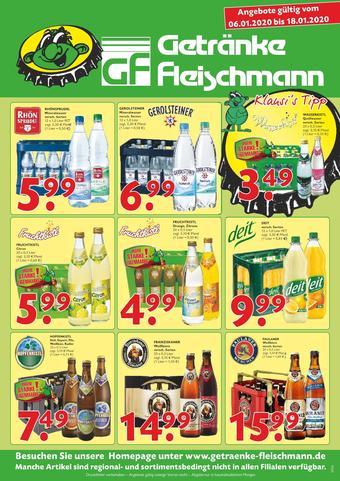 Getränke Fleischmann Prospekt (bis einschl. 18-01)