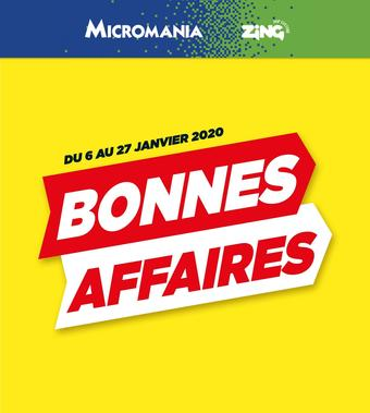 Micromania catalogue publicitaire (valable jusqu'au 27-01)
