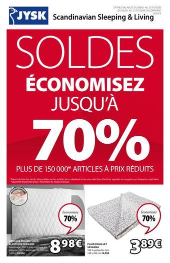 JYSK catalogue publicitaire (valable jusqu'au 21-01)