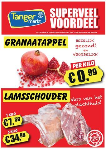 Tanger Markt reclame folder (geldig t/m 19-01)