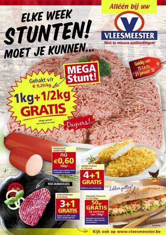 Vleesmeester reclame folder (geldig t/m 21-01)