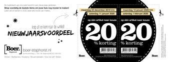 Boer Staphorst reclame folder (geldig t/m 01-02)
