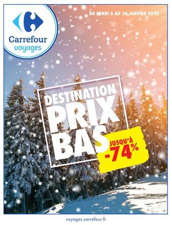 Carrefour Voyages catalogue publicitaire (valable jusqu'au 26-01)