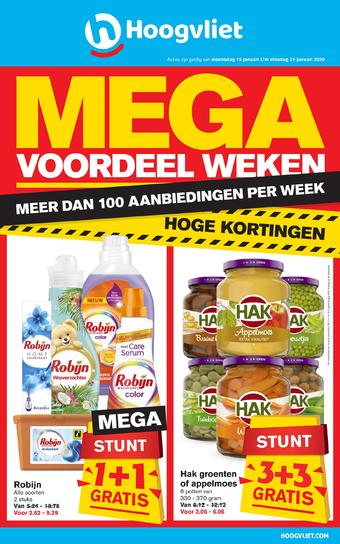Hoogvliet reclame folder (geldig t/m 21-01)