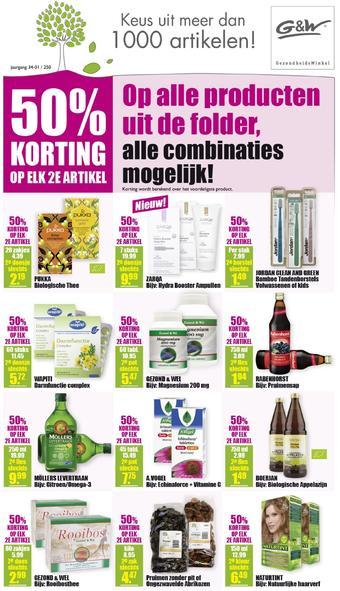 Gezond & Wel reclame folder (geldig t/m 26-01)