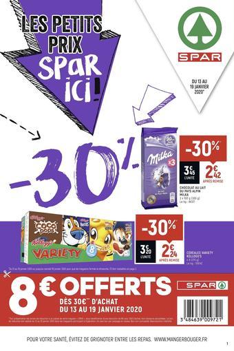 Spar catalogue publicitaire (valable jusqu'au 19-01)