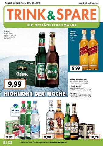 Trink und Spare Prospekt (bis einschl. 18-01)