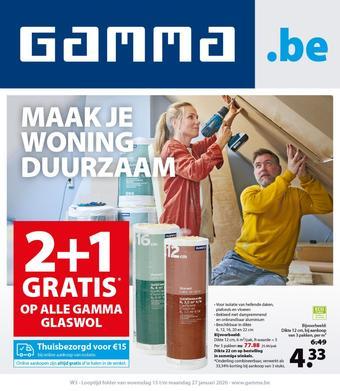 GAMMA reclame folder (geldig t/m 27-01)