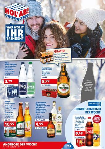 Hol'ab Getränkemarkt Prospekt (bis einschl. 18-01)