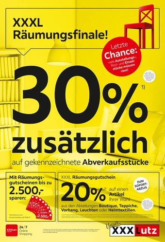 XXXLutz Werbeflugblatt (bis einschl. 21-01)