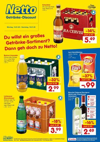 Netto Getränke Discount Prospekt (bis einschl. 18-01)