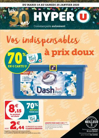 Hyper U catalogue publicitaire (valable jusqu'au 25-01)