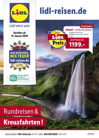 Lidl Reisen Prospekt (bis einschl. 15-02)