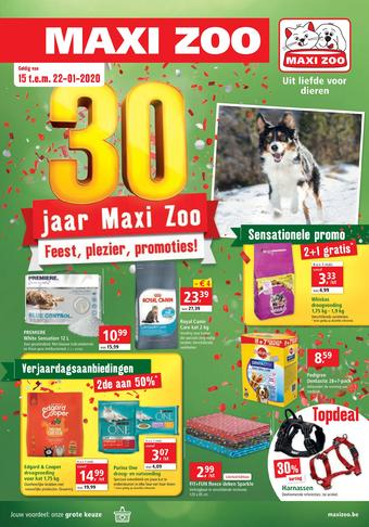 Maxi Zoo reclame folder (geldig t/m 22-01)