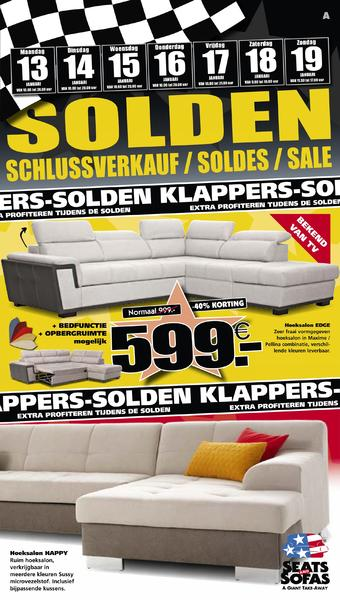 Seats and Sofas reclame folder (geldig t/m 19-01)