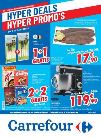 Hyper Carrefour reclame folder (geldig t/m 20-01)