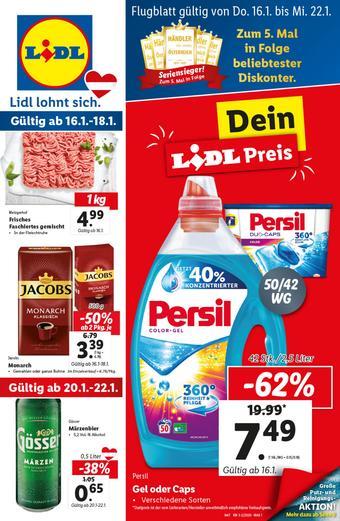 Lidl Werbeflugblatt (bis einschl. 22-01)