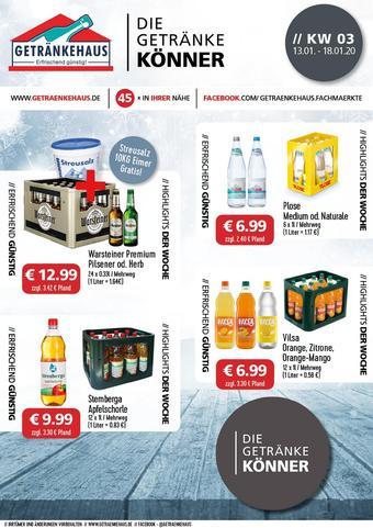 Getränkehaus Prospekt (bis einschl. 18-01)