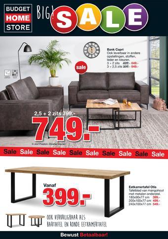 Budget Home Store reclame folder (geldig t/m 26-01)