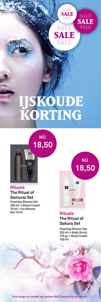 Mooi parfumerie reclame folder (geldig t/m 19-01)