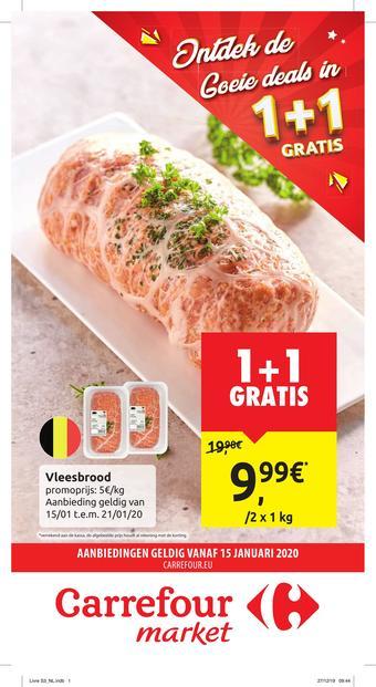 Carrefour Market reclame folder (geldig t/m 26-01)
