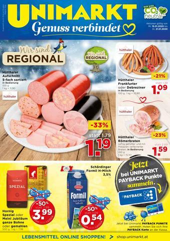 Unimarkt Werbeflugblatt (bis einschl. 21-01)
