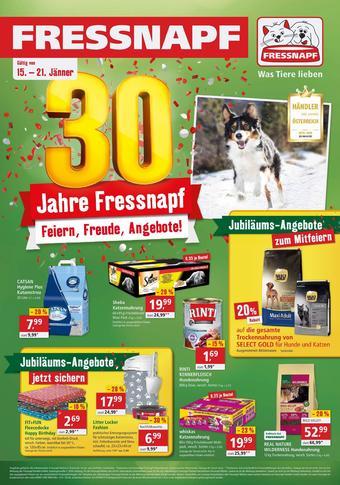 Fressnapf Werbeflugblatt (bis einschl. 21-01)