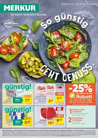 MERKUR Markt Werbeflugblatt (bis einschl. 29-01)