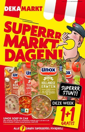 Dekamarkt reclame folder (geldig t/m 25-01)