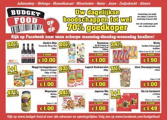 Budget Food reclame folder (geldig t/m 23-01)