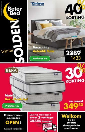Beter Bed reclame folder (geldig t/m 31-01)