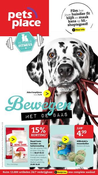 Pets Place reclame folder (geldig t/m 02-02)