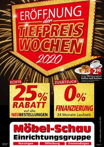 Möbel-Schau Prospekt (bis einschl. 29-01)