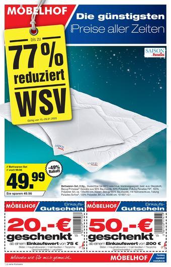Möbelhof Prospekt (bis einschl. 28-01)