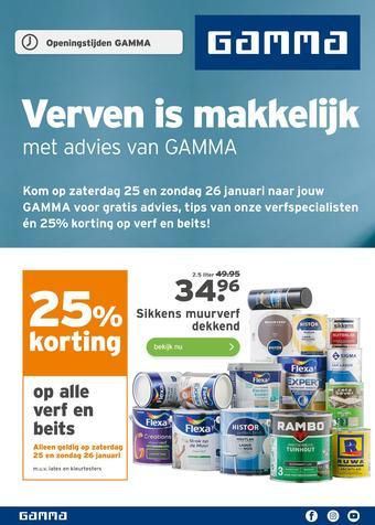 GAMMA reclame folder (geldig t/m 26-01)