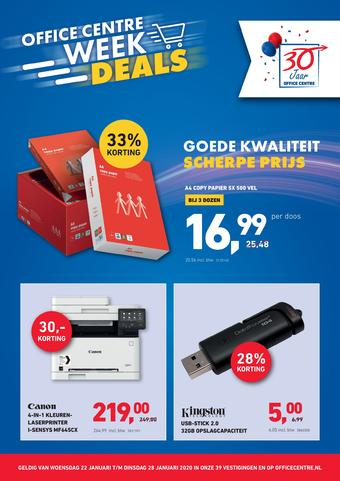 Office Centre reclame folder (geldig t/m 28-01)
