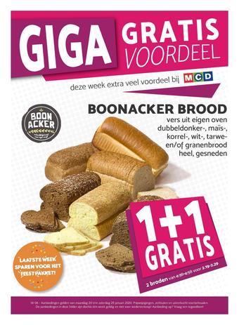 MCD Supermarkt reclame folder (geldig t/m 25-01)